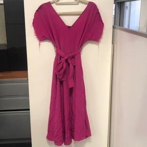 No.6 Store Hot Pink Short Sleeve Dress Size 2